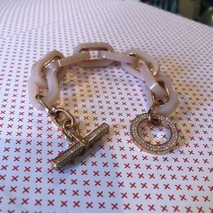 MICHAEL KORS- rose gold & blush acetate bracelet